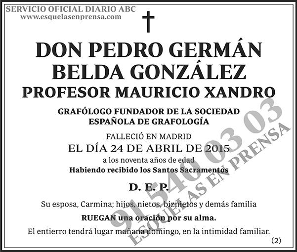Pedro Germán Belda González